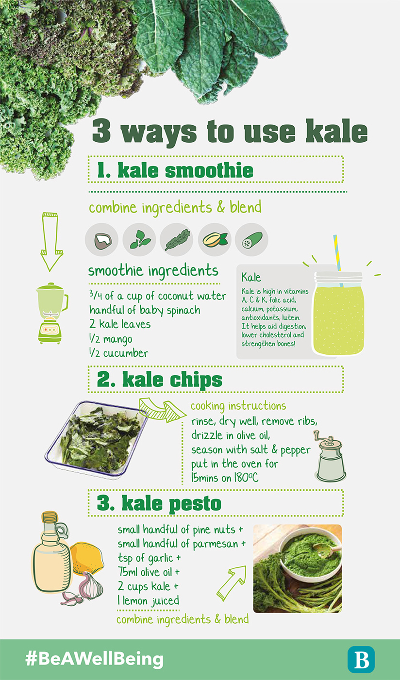 INFOGRAPHIC: 3 delicious ways to eat kale