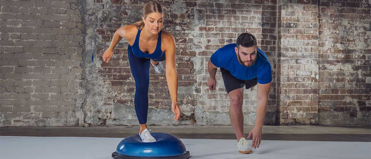 Runners touch plus bosu