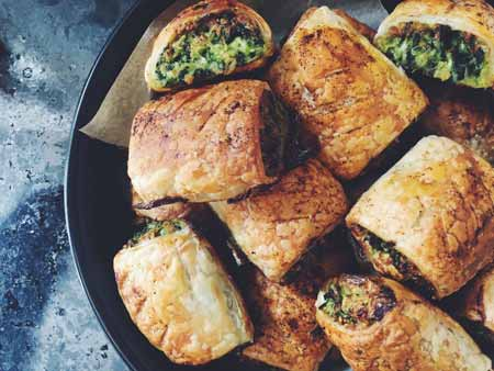 Supergreen sausage rolls
