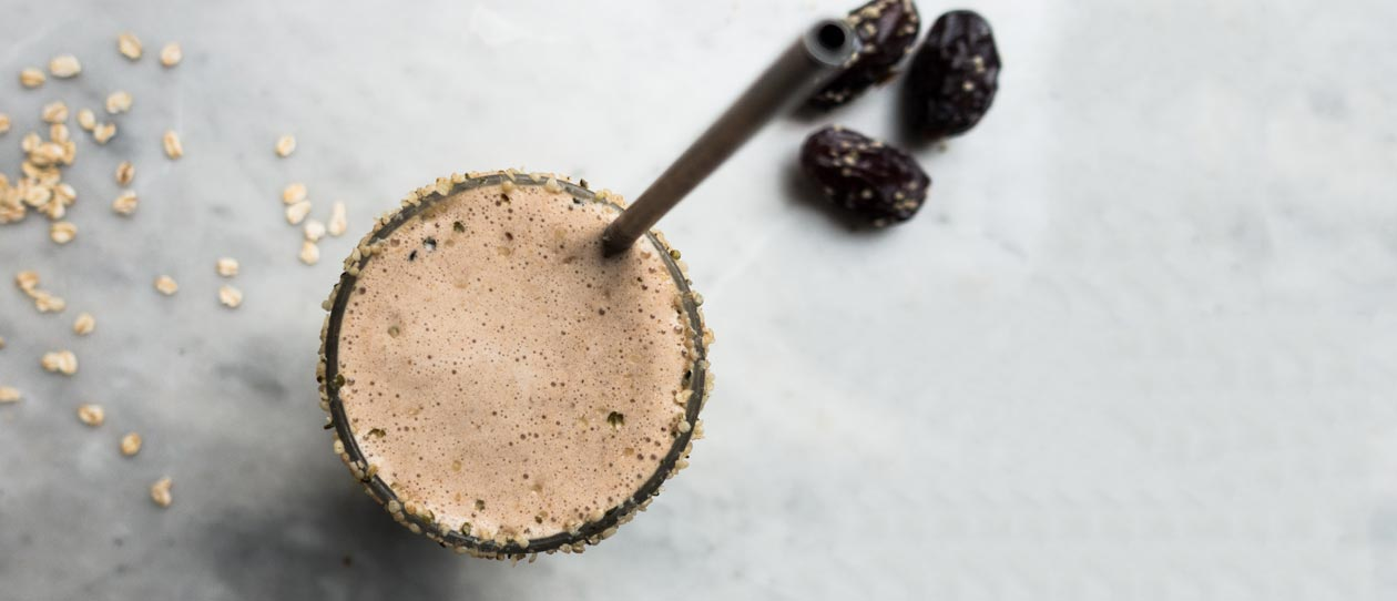 Cacao and coffee morning smoothie