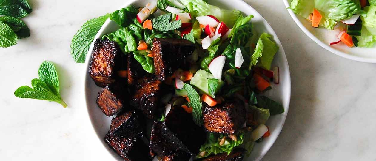 Maple glazed tempeh salad | Blackmores