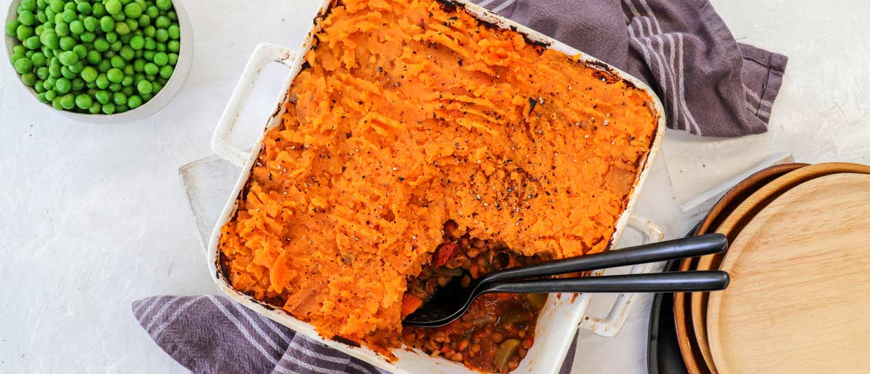 Sheperd's pie with sweet potato crust