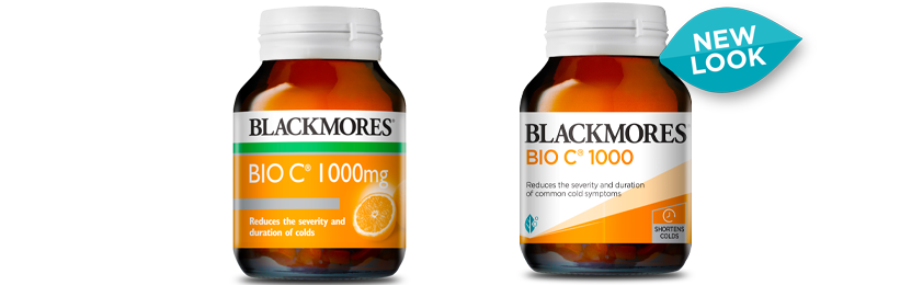 Blackmores Bio C 1000 old vs new look