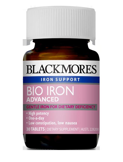 Blackmores Bio Iron Advanced- One-a-day formula