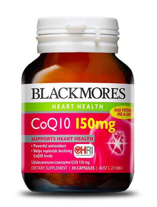 Blackmores coq10 150mg blackmores for Coq10 and fish oil