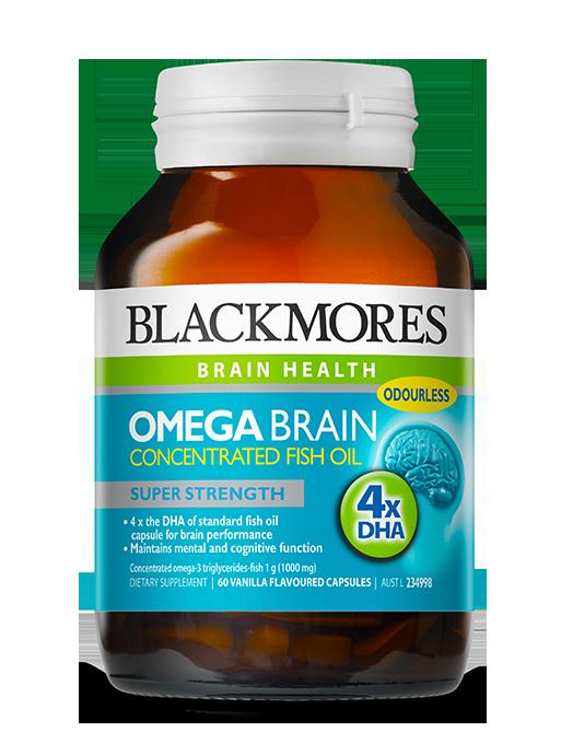 Omega brain blackmores for Fish oil brain