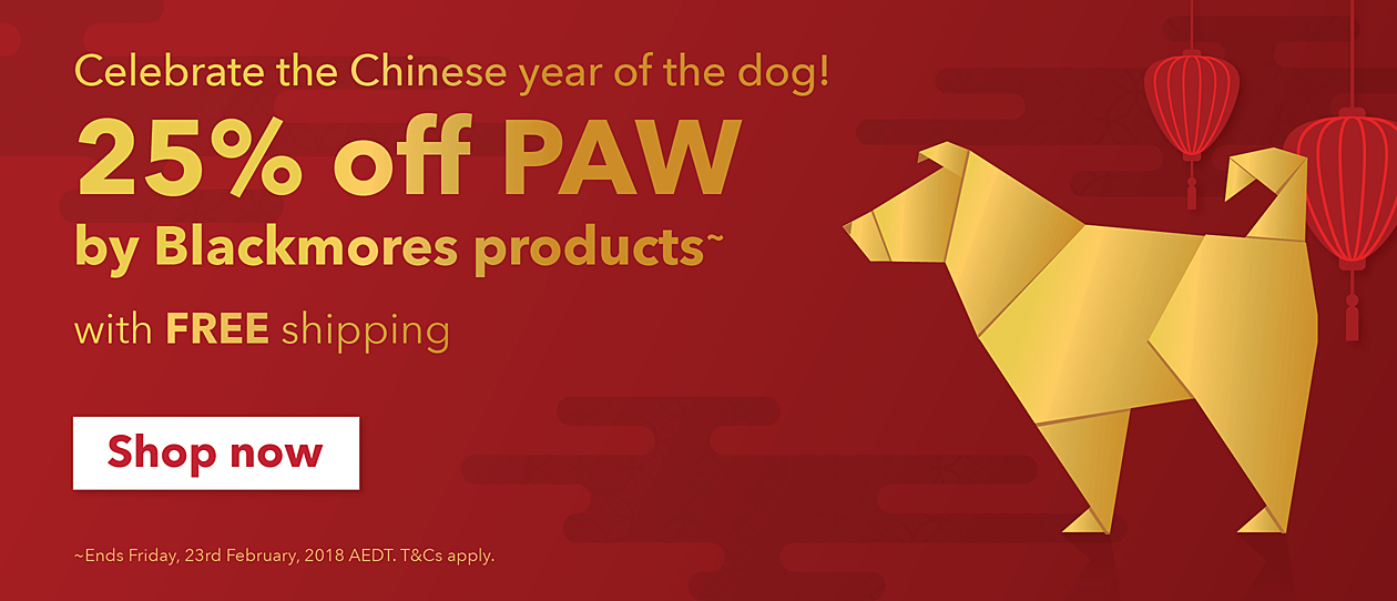 Celebrate the Year of the Dog with 25% off PAW and Free shipping! 8 Days only.
