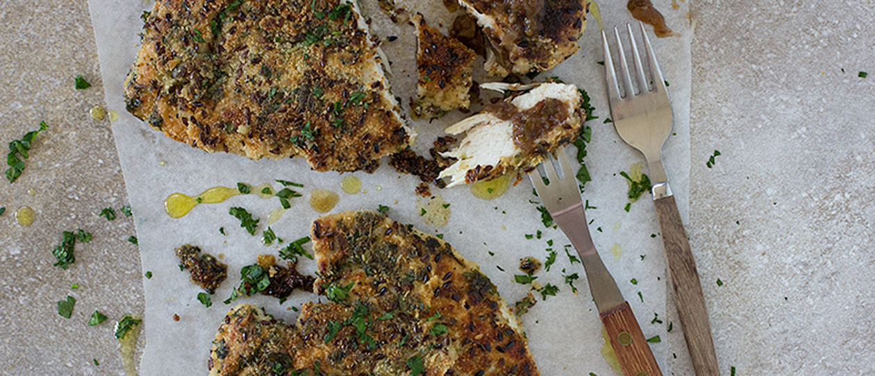 Herb-crusted chicken