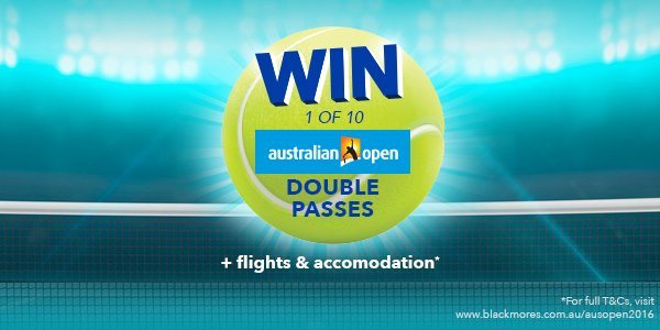 Win tickets to the Australian Open finals