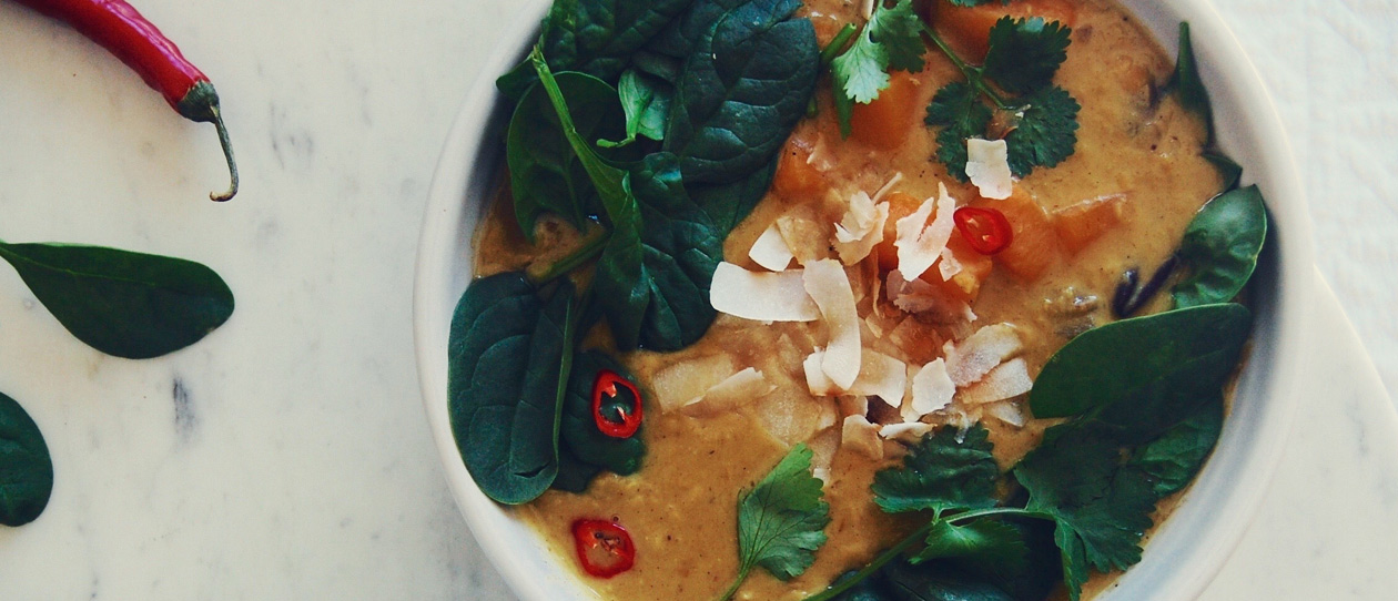 Coconut dahl soup