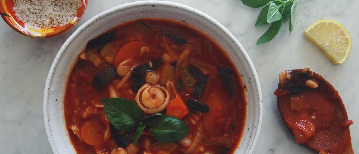 Smoky minestrone soup