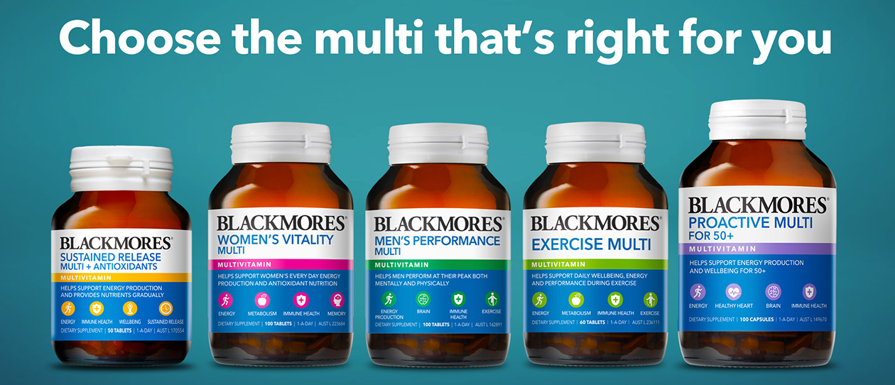 Blackmores new look multivitamins