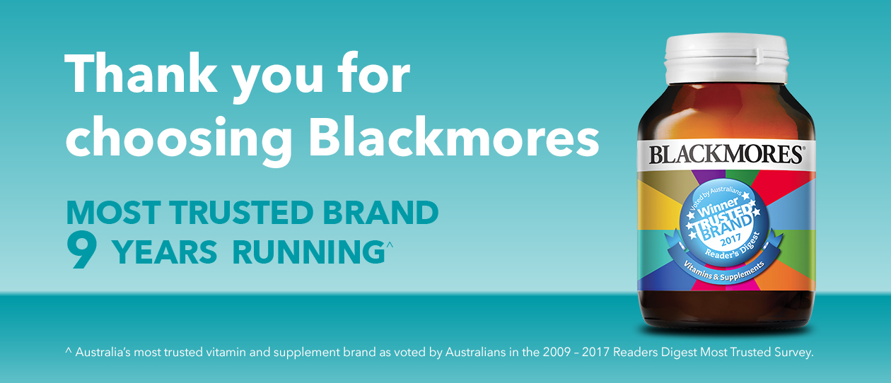 Blackmores wins Most Trusted Brand 9 years running