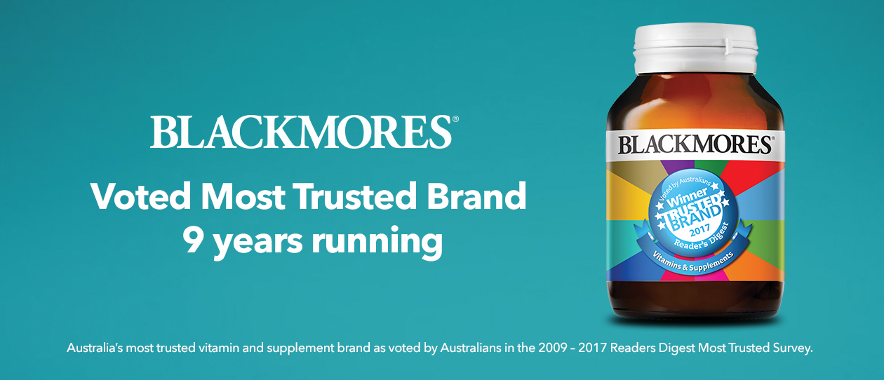 9 years running Blackmores Most Trusted Brand