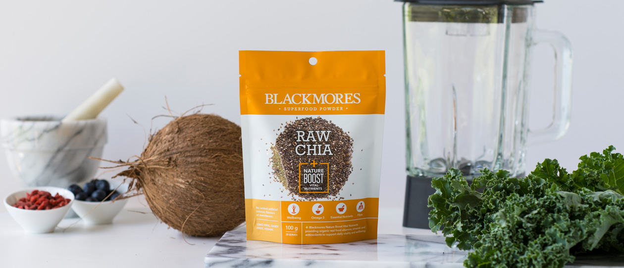 Blackmores Raw Chia + Nature Boost Vital Nutrients