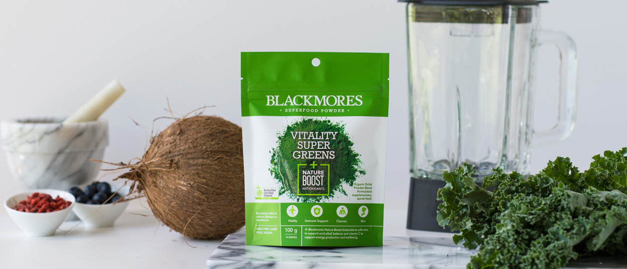Vitality Super Greens plus Nature Boost
